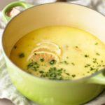 Citronová polévka s kuřecím masem