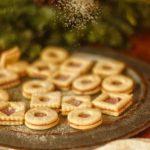 Linecké sušenky s malinovým máslem