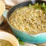 Pečená houbová polévka se zeleninou
